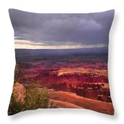 Approaching Storm Throw Pillow by Robert Bales