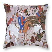 Arab Astronomer Takes Reading Throw Pillow by Photo Researchers