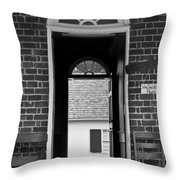 Arched Doors Appomattox Virginia Throw Pillow by Teresa Mucha
