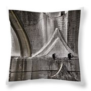 Architectural Detail Triptych Throw Pillow by Carol Leigh