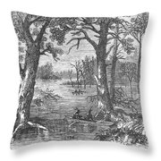Arkansas: Sunken Lands Throw Pillow by Granger