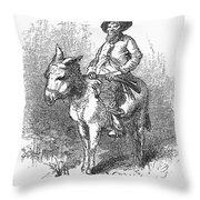 Arkansas Traveler, 1878 Throw Pillow by Granger