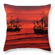 Armada Throw Pillow by Lourry Legarde