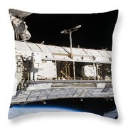 Astronauts Continue Maintenance Throw Pillow by Stocktrek Images