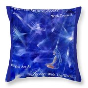 At Peace Throw Pillow by The Art With A Heart By Charlotte Phillips