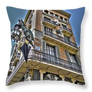 At The Plaza De La Boqueria ... Throw Pillow by Juergen Weiss
