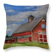Atco Farms - 1920 Throw Pillow by Lori Deiter