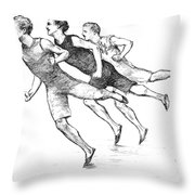 ATHLETICS: TRACK, 1890 Throw Pillow by Granger