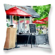 Austin's Throw Pillow by Tom Riggs