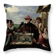 Autolycus Scene From 'a Winter's Tale' Throw Pillow by  Robert Leslie