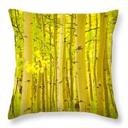 Autumn Aspens Vertical Image  Throw Pillow by James BO  Insogna