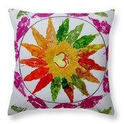 Autumn Chakra Throw Pillow by Sonali Gangane
