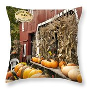 Autumn Farm Stand  Throw Pillow by John Greim