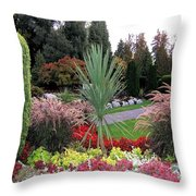 Autumn Gardens In Vancouver Throw Pillow by Will Borden