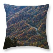 Autumn in the Smoky Mountains Throw Pillow by Dennis Hedberg