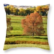 Autumn Landscape Dream Throw Pillow by James BO  Insogna