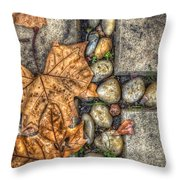 Autumn Texture Throw Pillow by Wayne Sherriff