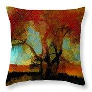 Autumn Tree Throw Pillow by Bonnie Bruno
