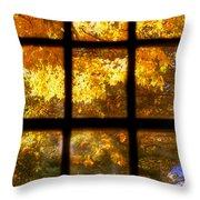 Autumn Window 2 Throw Pillow by Joann Vitali