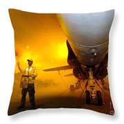 Aviation Boatswains Mate Waves Class Throw Pillow by Stocktrek Images