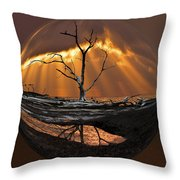 Awakening Throw Pillow by Debra and Dave Vanderlaan