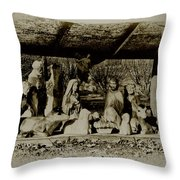 Away in the Manger Throw Pillow by Bill Cannon
