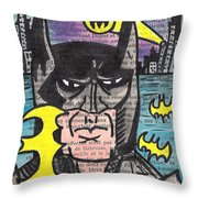 B-man Throw Pillow by Jera Sky