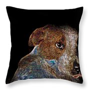 Baby Blue Throw Pillow by One Rude Dawg Orcutt