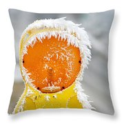 Baby It's Cold Outside Throw Pillow by Christine Till