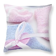 Baby Socks  Throw Pillow by Elena Elisseeva