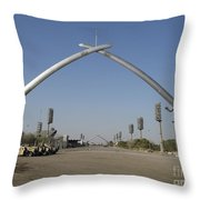 Baghdad, Iraq - Hands Of Victory Throw Pillow by Terry Moore