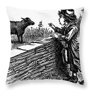 Bah, Bah, Black Sheep Throw Pillow by Granger