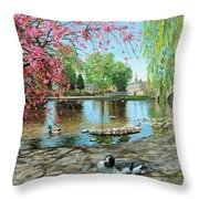 Bakewell Bridge - Derbyshire Throw Pillow by Trevor Neal