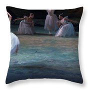 Ballerinas At The Vaganova Academy Throw Pillow by Richard Nowitz