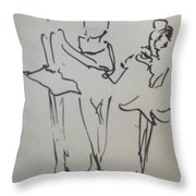 Ballet In The Park Throw Pillow by James Christiansen