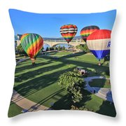 Balloons In Coolidge Park Throw Pillow by Tom and Pat Cory