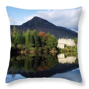 Ballynahinch Castle Hotel, Twelve Bens Throw Pillow by The Irish Image Collection