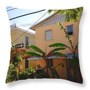 Banana Tree Lane in Key West Throw Pillow by Susanne Van Hulst