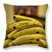 Bananas Throw Pillow by Paul Ward