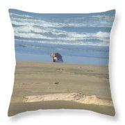 Bandon Oregon Beach Comber Prints Ocean Coastal Throw Pillow by Baslee Troutman