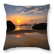 Bandon Scenic Throw Pillow by Jean Noren