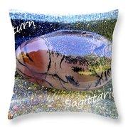 Barack Obama Saturn Throw Pillow by Augusta Stylianou