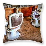 Barber - The Barber Shop 2 Throw Pillow by Paul Ward