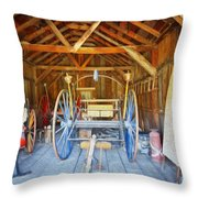 Barn Treasures 2 Throw Pillow by Cheryl Young