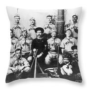 Baseball Team, C1898 Throw Pillow by Granger