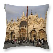 Basilica San Marco Throw Pillow by BERNARD JAUBERT