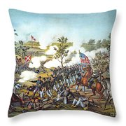 Battle Of Atlanta, 1864 Throw Pillow by Granger