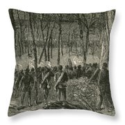 Battle Of The Wilderness, 1864 Throw Pillow by Photo Researchers