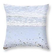 Beach Detail On Pacific Ocean Coast Throw Pillow by Elena Elisseeva