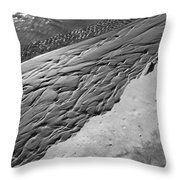 Beach Patterns Throw Pillow by Lauri Novak